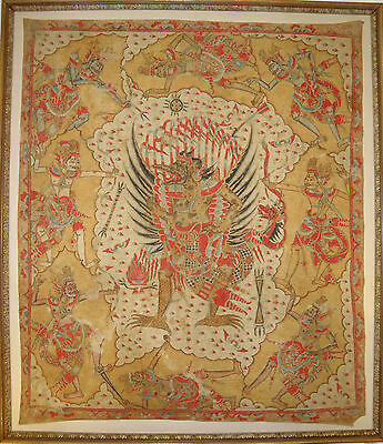 Rare Huge Museum Quality Hindu Temple Ceiling Painting