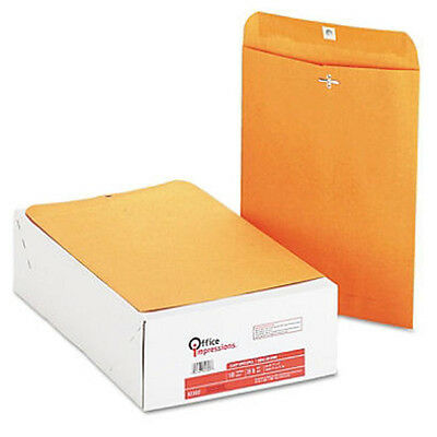 200 Clasp Envelopes 9 x 12 Brown Kraft  2 Boxes of 100 Count  Free US  Shipping