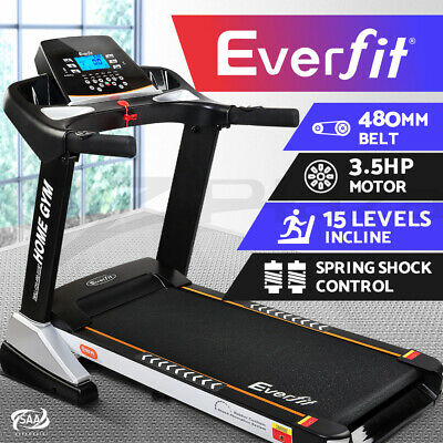 Everfit Electric Treadmill Auto Incline Home Gym Exercise Machine Fitness 480mm
