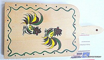 Rooster California Provincial Franciscan Woodpecker Ware Wooden Cutting Board