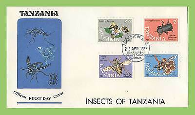 Tanzania 1987 Insects set on First Day Cover