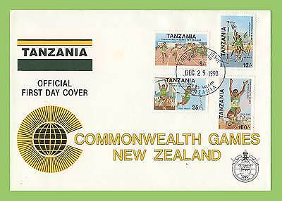 Tanzania 1990 Commonwealth Games set First Day Cover