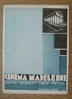 Programme Cinéma Madeleine 1929 – The Broadway Melody