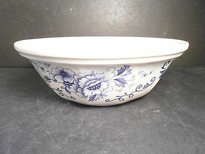 Clinton Inn Serving Bowl by Iroquois Henry Ford Museum Collection Blue & White