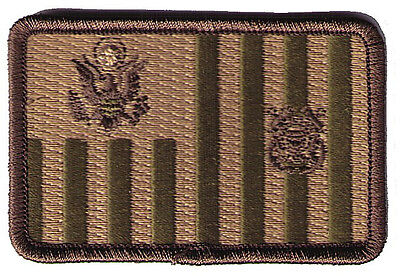 """HOOK/LOOP Ensign flag woodland 3""""x2""""h sml rounded W5444V USCG Coast Guard patch"""