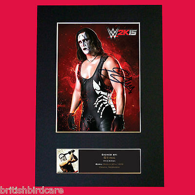 STING Steve Borden WWE Signed Autograph Mounted Photo Repro A4 Print 498