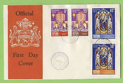 Guyana 1973 Christmas First Day Cover