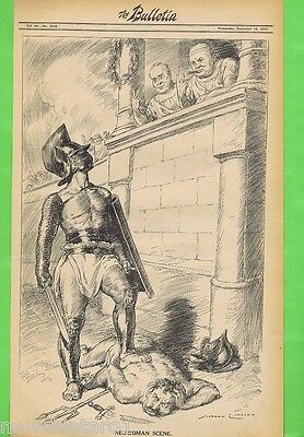 NORMAN LINDSAY POLITICAL CARTOON  FROM THE BULLETIN  Sept 15, 1943, VICTORY