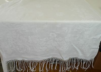"Amazing Antique 1900 Linen Damask Show Towel- With ""C"" Monogram Ll20"