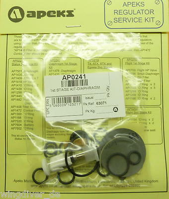 Original APEKS REGULATOR SERVICE KIT