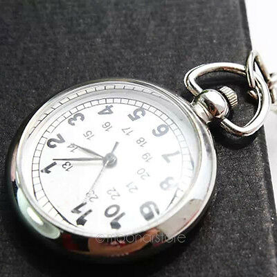 Stainless Steel Medical Doctor Brooch Fob Quartz Cross Nurse Silver Pocket Watch