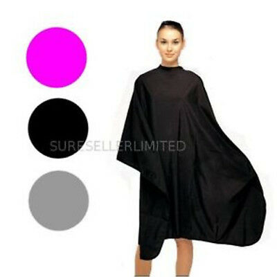 Unisex Adults Kids Black Hair Salon Hairdressing Cutting Cape Cover Barbers Gown