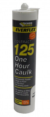 Everbuild One Hour Caulk White 310ml - No sanding down is required