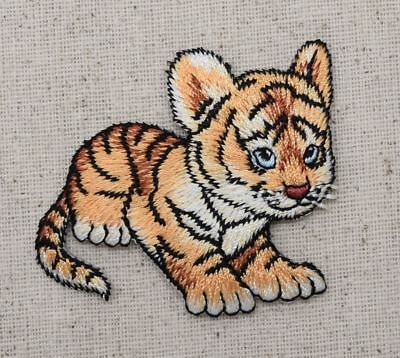 New Iron-On Applique Embroidered Patch Baby Tiger Cub
