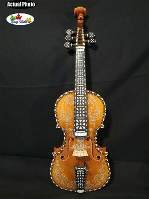 Perfect drawing,inlay and the carving SONG Brand maestro 5strings 4/4 violin #3