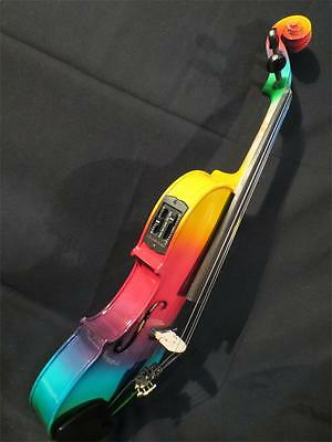 Excellent Colorful electric & acoustic violin 4/4 perfect sound #8081