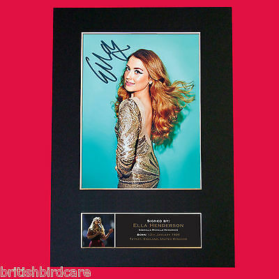 ELLA HENDERSON Signed Autograph Quality Mounted Photo Repro A4 Print 504