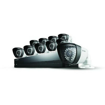 Samsung SDS-P5102 16 Channel DVR Security System with 10 Cameras, 2TB HDD RFB