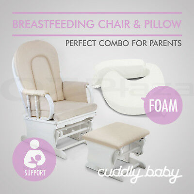 Baby Glider Chair Breast Feeding Pillow Rocking Nursing Support Ottoman