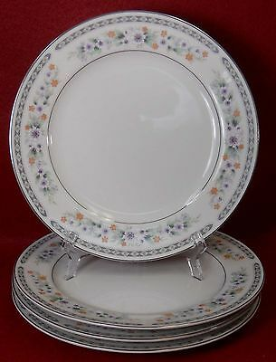 FINE CHINA of Japan MONARCH 6504 pattern SALAD PLATE - Set of Four (4) - 7-1/2""