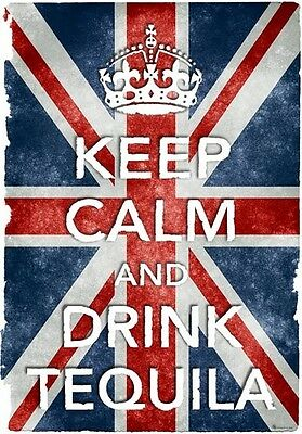 ACR33 Vintage Style Red Keep Calm Drink Rum Alcohol Funny Poster Print A2//A3//A4