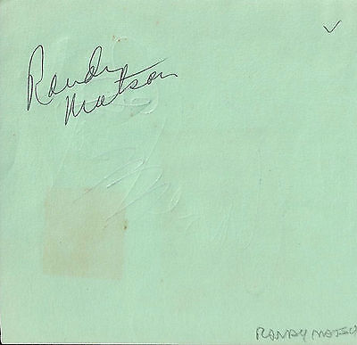 Randy Matson signed vintage album page / autograph Track and Field Olympian