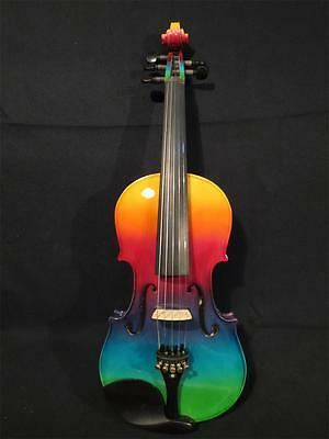 Beautiful Colorful electric & acoustic 5 strings violin 4/4 perfect sound #9251