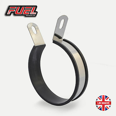 Round 15mm Offset Motorbike Exhaust Hanging Strap Clamp Mounting Bracket Hanger