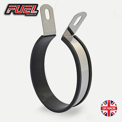 Oval 25mm Offset S/S Exhaust Mounting Bracket / Hanging Strap / Hanger / Clamp
