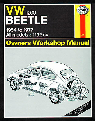 Haynes Workshop Repair Manual Vw Beetle 1200 (54 - 77) Up To S