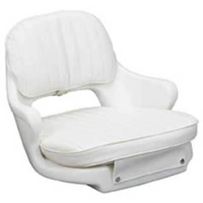 Moeller ST2000-HD White Boat Seat with Cushion Set & Mounting Marine