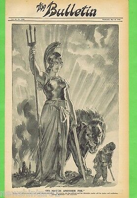 Norman Lindsay Political Cartoon  From The Bulletin  May 16, 1945, Victory