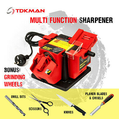 Electric Multi Function Sharpener Tool Drill Bit Knife Scissor Chisel Planer