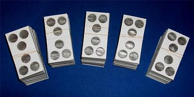 One Hundred (100) 3 hole 2X2 Cardboard/Mylar Coin Holders Flips for Cent or Dime