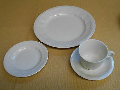 Wm Adams & Sons England Ironstone Partial 4 Piece Place Setting - Wheat