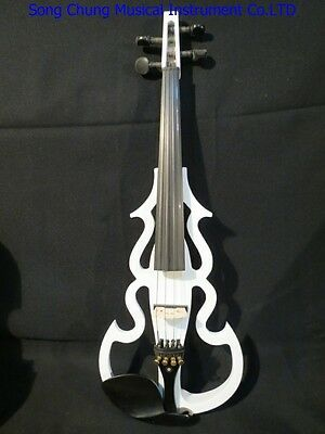 Best  white SONG Brand streamline 4/4 electric violin,solid wood