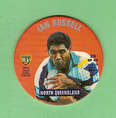1995 Nsw Rugby League Tazo #35  Ian Russell, North Queensland Cowboys