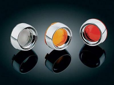 Kuryakyn Deep Dish Bezels With Lenses Red For Harley Davidson