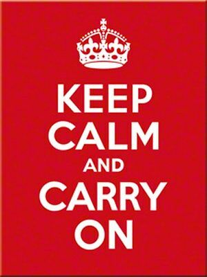 MAGNET 14291 - KEEP CALM AND CARRY ON - 8 x 6 cm - NEU