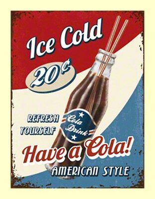 MAGNET 14260 - HAVE A COLA! AMERICAN STYLE - ICE COLD - 8 x 6 cm - NEU