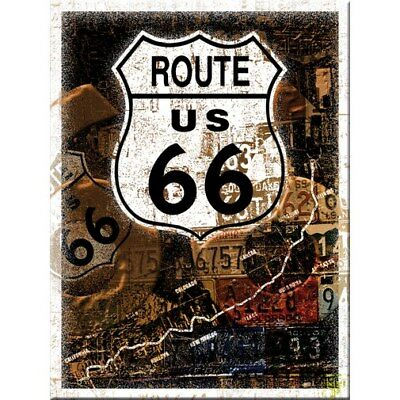 MAGNET 14175 - ROUTE 66 ROST COLLAGE - 8 x 6 cm - NEU