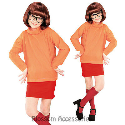 CK246 Licensed Scooby Doo Velma Fancy Dress Child Costume Kids Girls Book Week
