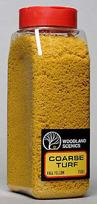 NEW Woodland Scenics Turf Coarse Fall Yellow 32 oz T1353