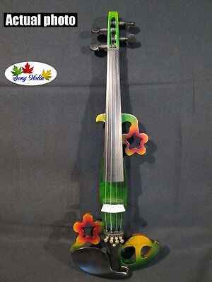 New Song design streamline 4/4 electric violin,solid wood #5312