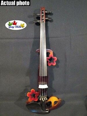 New Song design streamline 4/4 electric violin,solid wood #5311