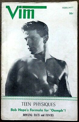 VIM vintage Beefcake Gay interest magazine Feb 1961