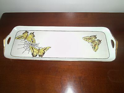 PT BAVARIA TIRSCHENREUTH Porcelain & Gold Butterfly Dresser Tray from Estate EUC