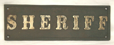 "Classy Iron Sign > Sheriff <> 8 1/2"" x 2 2/3"" Raised Border and Letters"