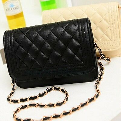 Black Women's Handbag Classic Diagonal Quilted SM Chain Shoulder bag