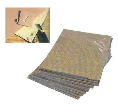 6 SOFT LINO BLOCK PRINTING BOARDS HESSIAN BACKED TILES 75mm x 75mm 3.2mm THICK